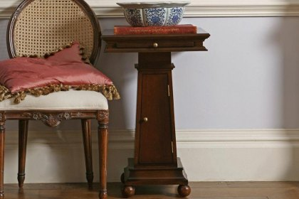 Eclectic Pedestal Table