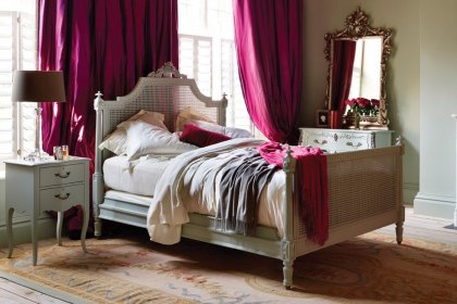 Juliet Painted Caned Bed