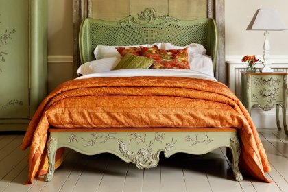Floral Caned Bed