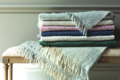 Foxford Mohair Cut Fringe Throw