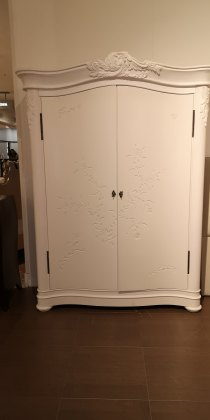Floral 2 Door Wardrobe in Nankeen - EX DISPLAY