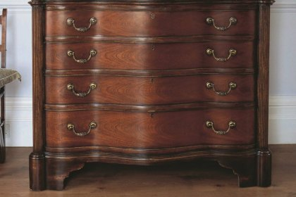 Eclectic Large Chest of Drawers - 4 Drawers  Antique Pecan
