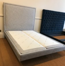 Boston Upholstered Bed King (150 x 200cm) - Ex Display