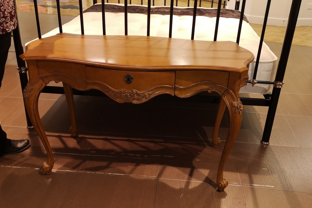 LXV Dressing Table with No Mirror in Antique Pecan - EX DISPLAY