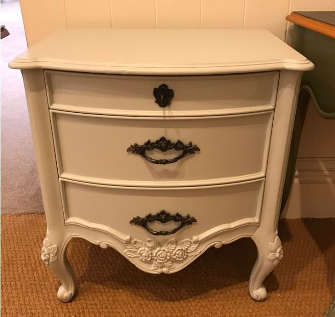 Painted Louis XV Bedside Chest - EX DISPLAY