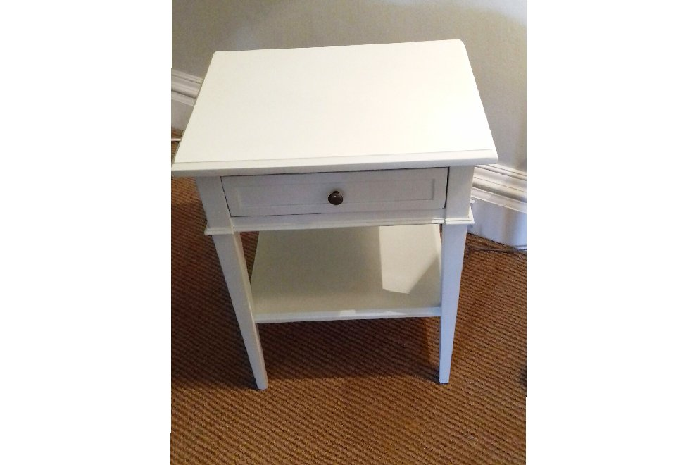 Nathalie Bedside Table in Argent Finish - EX DISPLAY