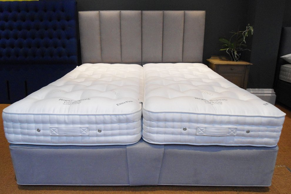 6' Super King Vispring Regal Superb Mattress Firm/Extra Firm with Divan and Headboard - EX DISPLAY