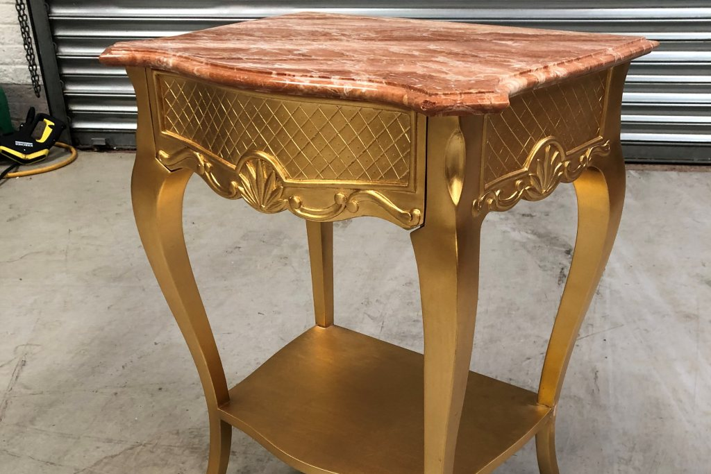 Corbiere Gold Bedside Table - Ex Display