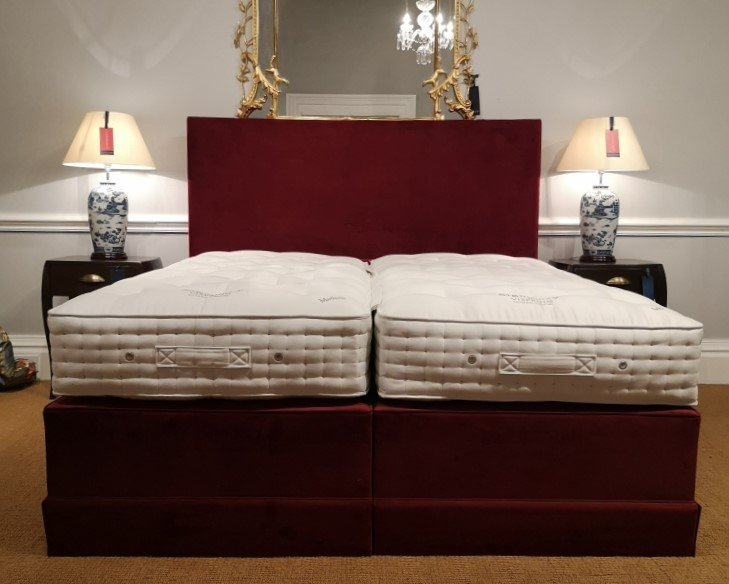 Vispring Signatory Divan Super King set with Arc Headboard