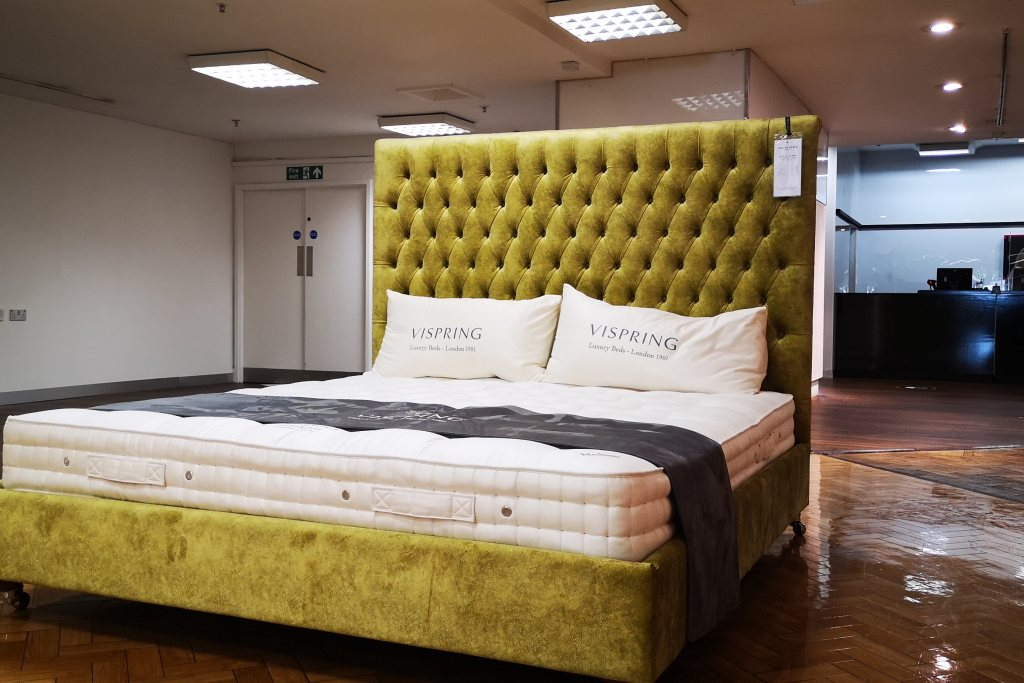 And So To Bed Emilia Grand Bed Super King with Base (180 x 200cm) - Ex Display
