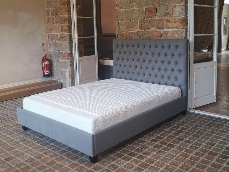 Emilia Deep Buttoned (King Size) Bed - Ex Display