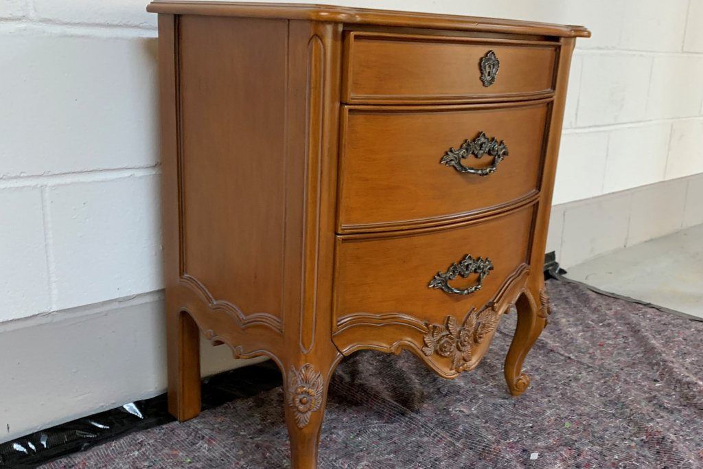 Louis XV Bedside Chest (2 available) - Ex Display