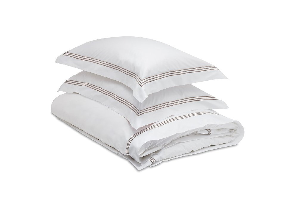 And So To Bed Mayfair 3 Stripe Pillow Case - 65 x 65cm