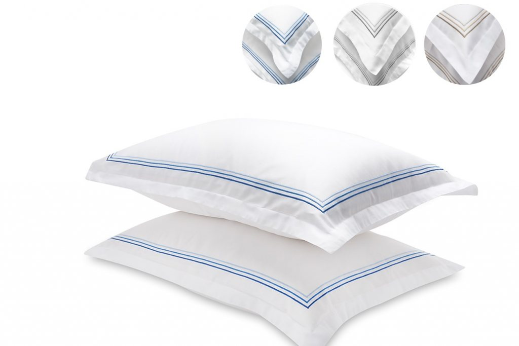 And So To Bed Mayfair 3 Stripe Pillow Case