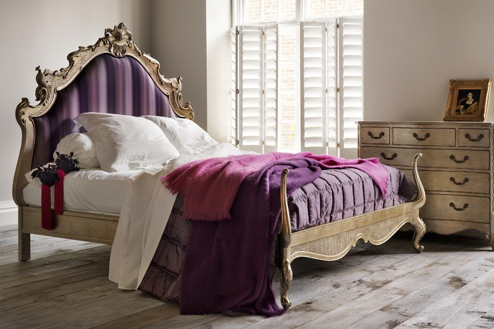 And So To Bed Versailles Leafed Upholstered Bed