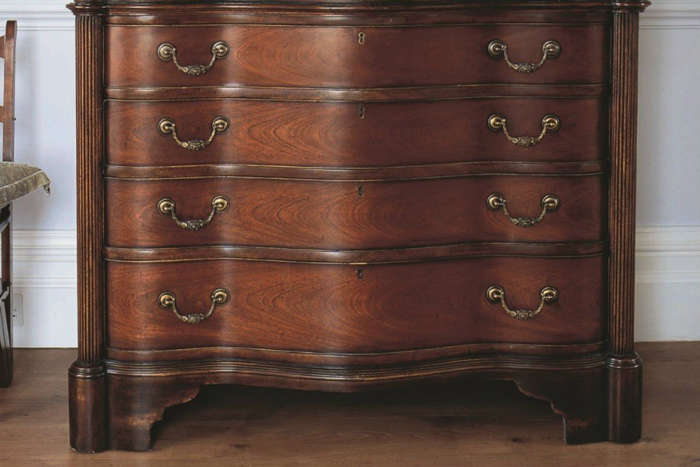 And So To Bed Eclectic Large Chest of Drawers - 4 Drawers  Antique Pecan