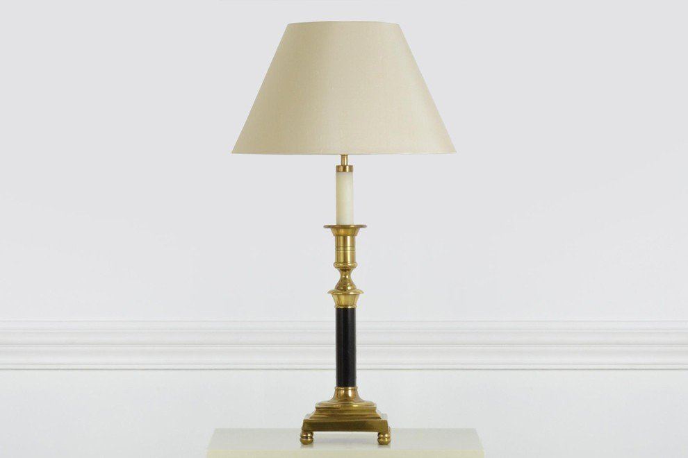 And So To Bed Candlestick Lamp