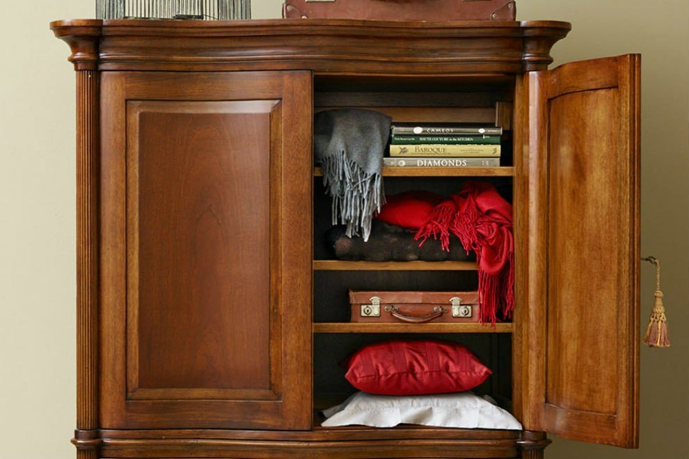 And So To Bed Eclectic Armoire Cabinet Only